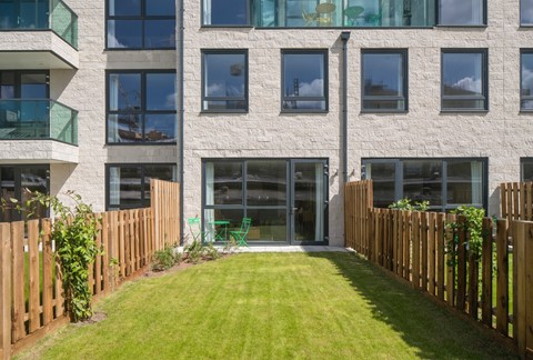 All apartments have private outdoor space (some with gardens)